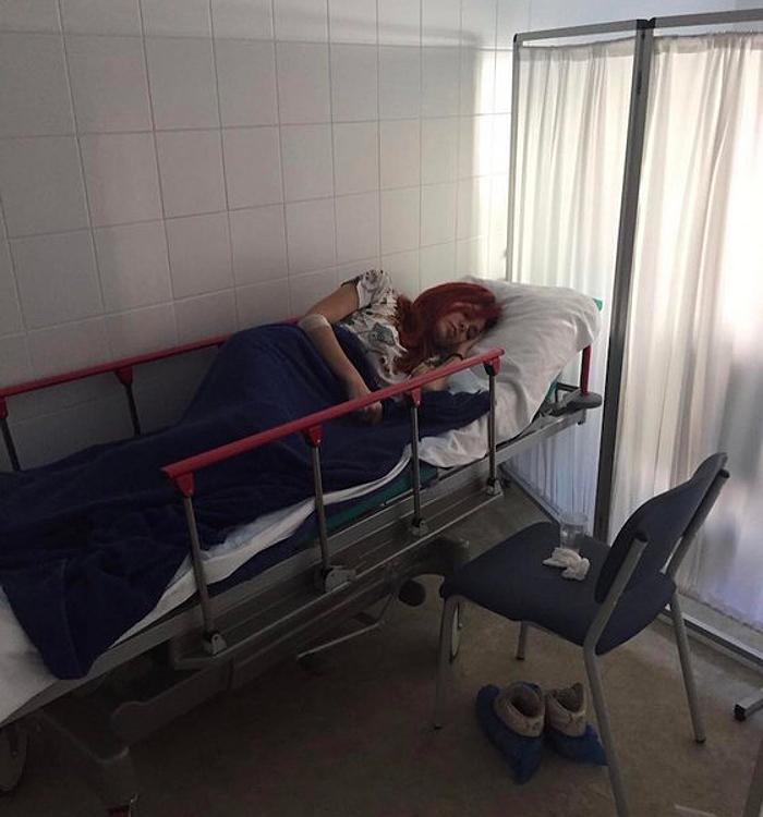 Николь Кузнецова в больнице