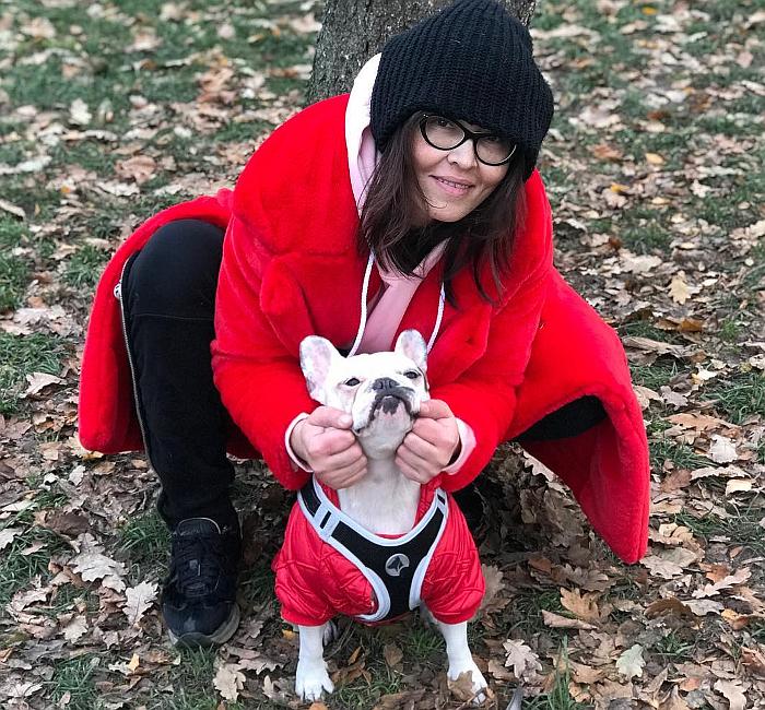 Наталья Бантеева со своей собакой